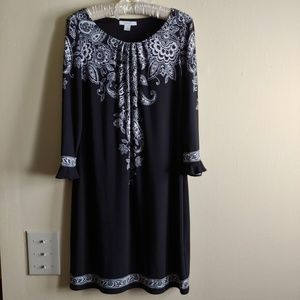 DRESS BARN Black Day to Night Dress Size 8
